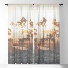 Venice Beach Photography Sheer Curtain