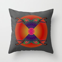 Red Kiss / Love Symbol / Pattern 12-01-17 Throw Pillow