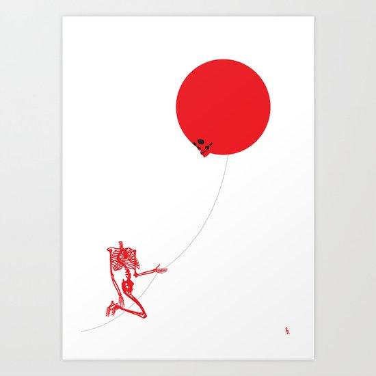Inflated Ego (Redbone) Art Print