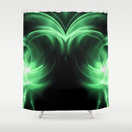 abstract fractals mirrored reacde Shower Curtain