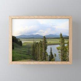 Yellowstone River Valley View Framed Mini Art Print