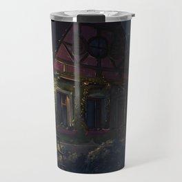 House fairy tale art light night Travel Mug