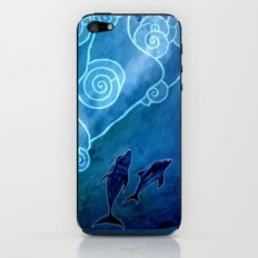 MELUSINA SEA DOLPHINS iPhone & iPod Skin