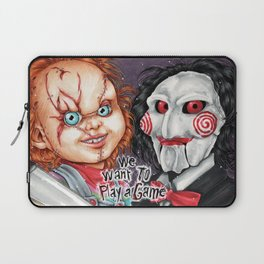 We want to play a game Laptop Sleeve