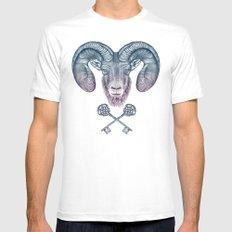The Ram (Aries) Mens Fitted Tee White MEDIUM