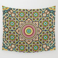 arab Wall Tapestries featuring Moroccan Traditional Wall Art by Arteresting Shop