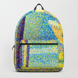Georges Seurat Moored Boats and Trees Backpack