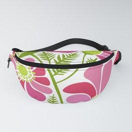 Pink Flower Garden Fanny Pack