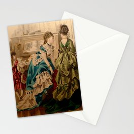 Two Bustles, a Piano, and a Cat Stationery Cards