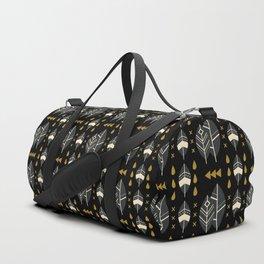 SCANDINAVIAN LEAVES PATTERN Duffle Bag