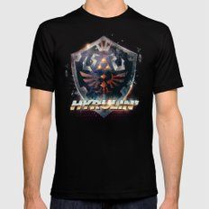 Yeah she sees my Hyrulin' - 80's Legend of Zelda Shield Mens Fitted Tee LARGE Black