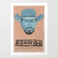 django Art Prints featuring Django by kjell