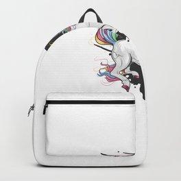 Uncorn Full Color Rainbow Crack Backpack