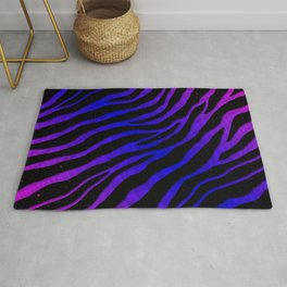 Ripped SpaceTime Stripes - Pink/Blue Rug
