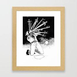 10 OF SWORDS Framed Art Print