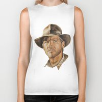 indiana jones Biker Tanks featuring Indiana Jones by Ashley Anderson