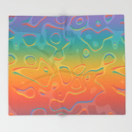 Colorful Holographic Foil Pattern 3d Texture Trendy Colors Throw Blanket