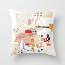 Flea Market Throw Pillow