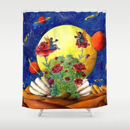 The shell of Venus Shower Curtain