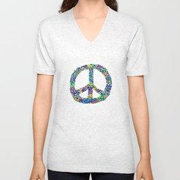Peace Out Unisex V-Neck