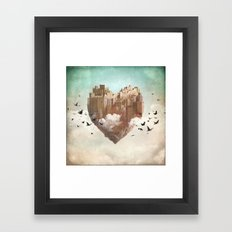 My Heart Is My Castle Framed Art Print