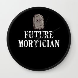 Mortician Funeral Director Gift Cemetery Embalmer Wall Clock