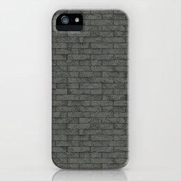Grey Stone Bricks Wall Texture iPhone Case