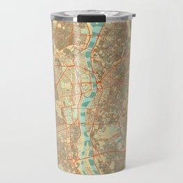 Cairo Map Retro Travel Mug