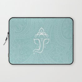 Blue Ganesh - Hindu Elephant Deity Laptop Sleeve