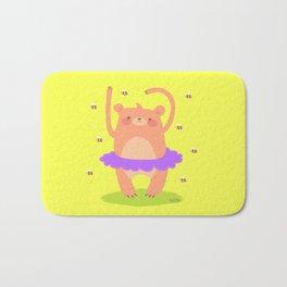 Bear Ballerina Bath Mat