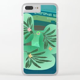 Chlorofyll Bank Station Clear iPhone Case