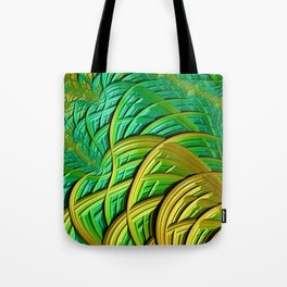 patterns green yellow string Tote Bag