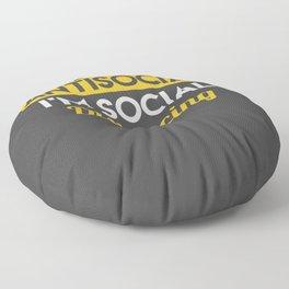 I'm Not AntiSocial I'm Social Distancing Floor Pillow