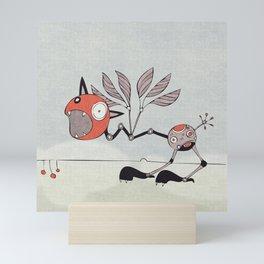 Shrieky Red Mini Art Print
