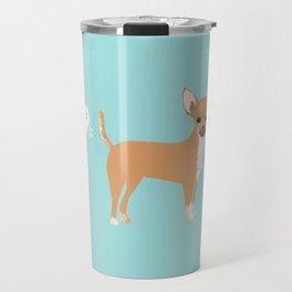 Chihuahua funny fart dog pure breed gifts dog lovers Travel Mug