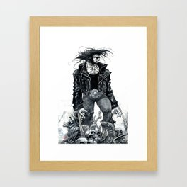 Logan watercolor by Roger Cruz Framed Art Print