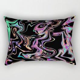 Oil Spill Abstract Black Rectangular Pillow