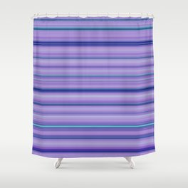 Modern Purple Pantone Aqua Stripe Pattern Shower Curtain