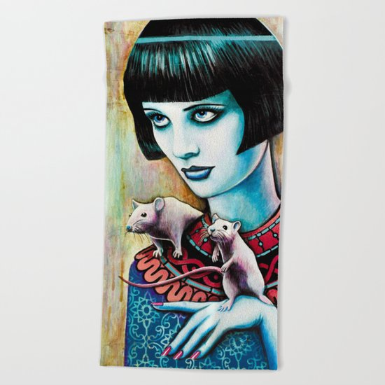 Diana and the Rats Beach Towel