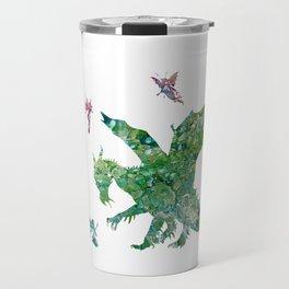 Dragon and Fairies Fluid Abstract Colorful Fun Design Travel Mug