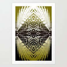 Shield of Gold Palms Art Print