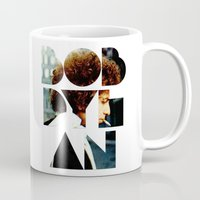font Mugs featuring Bob Dylan Font Colour by Fligo