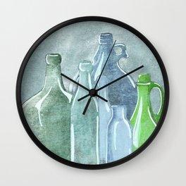 Antique Bottles Wall Clock