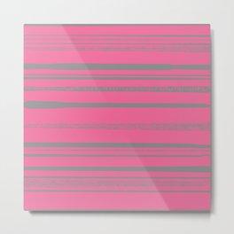 A Pink Pattern Metal Print