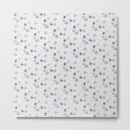 Floral Pattern - Monochrome Metal Print