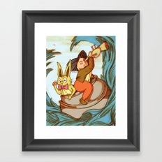 Cauldron in the Sea Framed Art Print