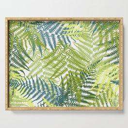 Fern frond seamless pattern Serving Tray