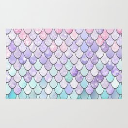 Mermaid Pastel Pink Purple Aqua Teal Rug
