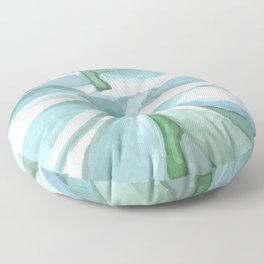 Succulent in the pot Floor Pillow