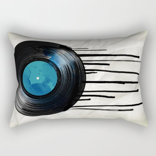 vinyl drip Rectangular Pillow
